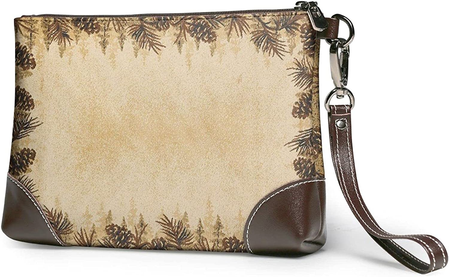 2021 new Pine Clearance SALE! Limited time! Cone Border Clutch Purses Wristlet Pu Wallet Leather