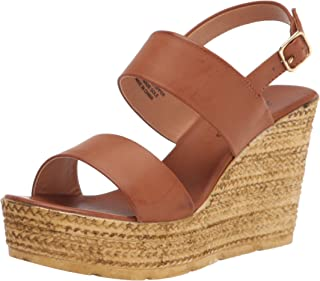Womens Alexys Platform Wedge Sandals Leather Open Toe Casual Platfo.