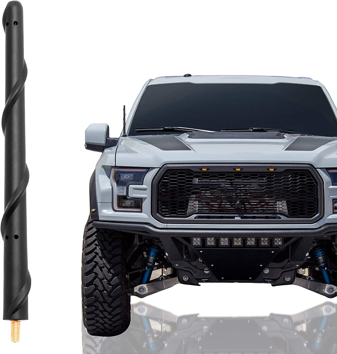 KSaAuto Short Charlotte Mall Antenna Compatible with 2021 model Ford F150 7 2009-2021 Inc