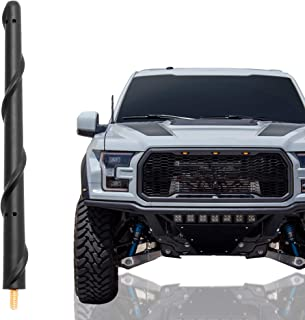 KSaAuto Short Antenna Compatible with Ford F150 2009-2021, 7 Inch Flexible Rubber Car Wash Proof Antenna Replacement Mast,...