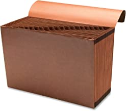 Sparco Accordion File, with Flap, A-Z, 21 Pocket, Legal, 15 x 10 Inches, Brown (SPR23683)