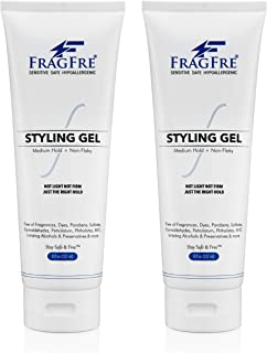 Sponsored Ad - FRAGFRE Hair Styling Gel 8 oz (2-Pack Gift Set) Medium Hold - Fragrance Free Hypoallergenic - Irritation Fr...