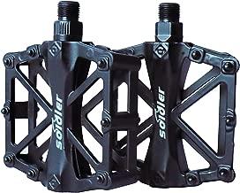 Pedales Bicicleta, Pedals Impermeable 9/16 Pulgadas con Sellado Antideslizante Durable para Bicicleta de Montaña BMX Universal Bike Bike Trekking Bike (negro)