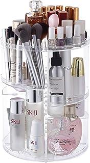 Makeup Organizer 360 Degree Rotating Large Capacity Cosmetic Storage Box 7 Layers Adjustable Shelf Height, Fits Makeup Bru...