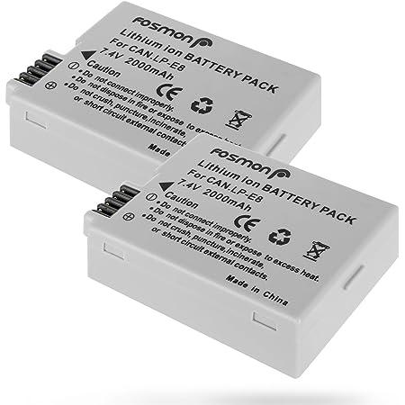 Fosmon 7 4v 2000mah Ersatz Lithium Ion 2x Akku Batterie Kamera
