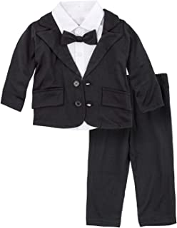 c0a62b725aa2 BIG ELEPHANT Baby Boys Tuxedo Suit Formal Party Set Wedding Outfit E16