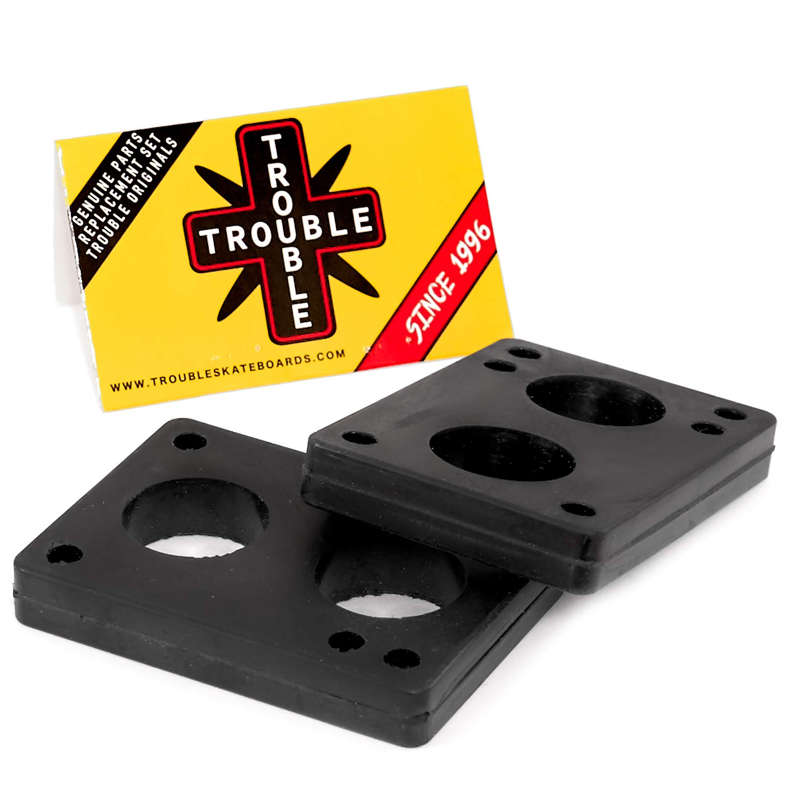TROUBLE SKATEBOARDS Riser Pads Rubber
