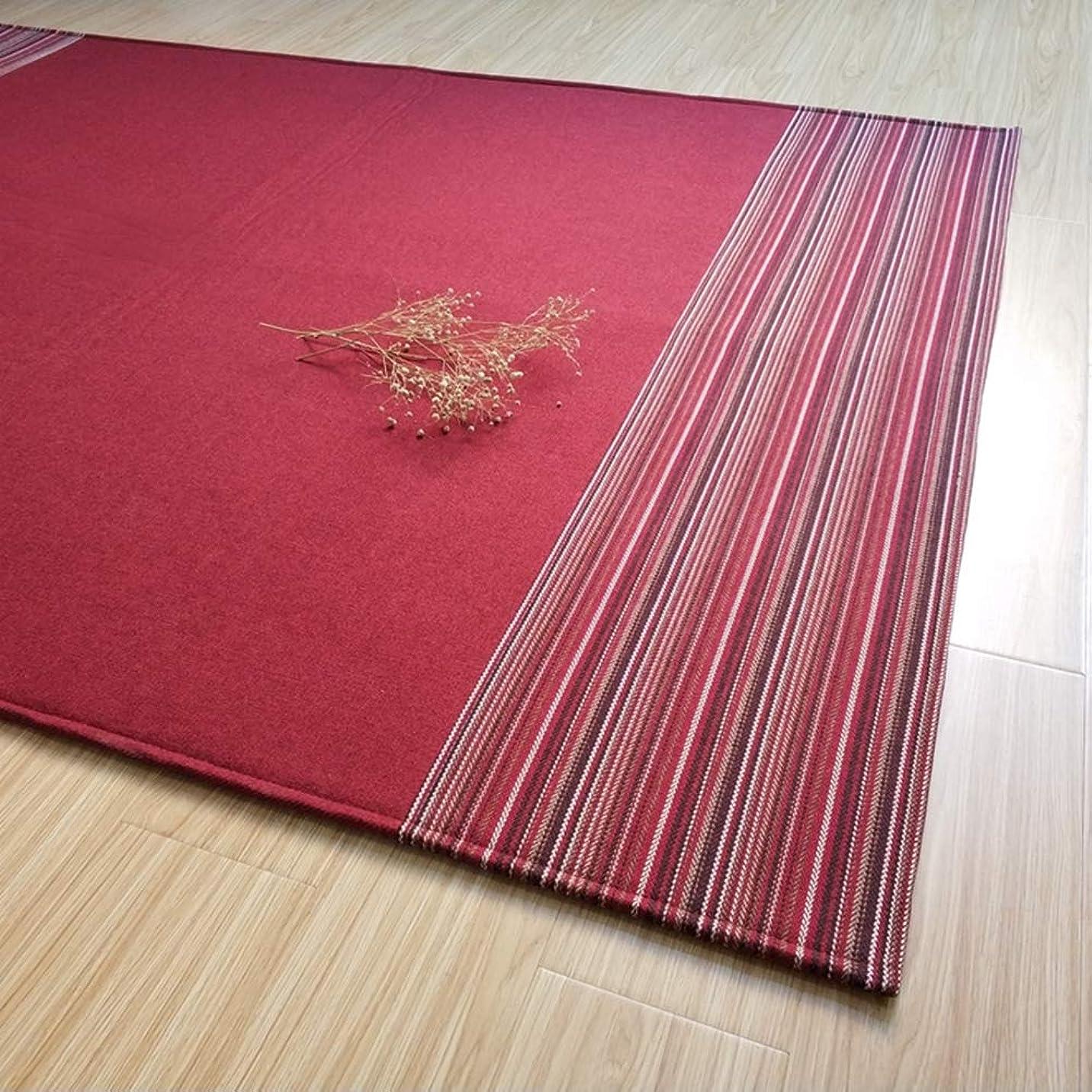 クリップ監督する継続中[QIFENGDIANZI] 長方形 カーペット 畳 絨毯 ラグ 洗える ホットカーペット対応 洗えるラグ ラグマット 滑り止め付 快適 チェアマット 低反発 防音 おしゃれ 抗菌防臭 レッド 160X230cm