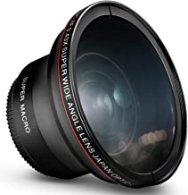 55MM 0.43x Altura Photo Professional HD Wide Angle Lens (w/Macro Portion) for Nikon D3400, D3500, D5500, D5600 and Sony Al...