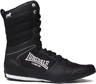 comprar comparacion Lonsdale Botas de boxeo alta contendiente - blanco y negro