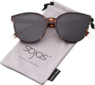 e373d013f46b2 SOJOS Fashion Round Sunglasses for Women Men Oversized Vintage Shades SJ2057