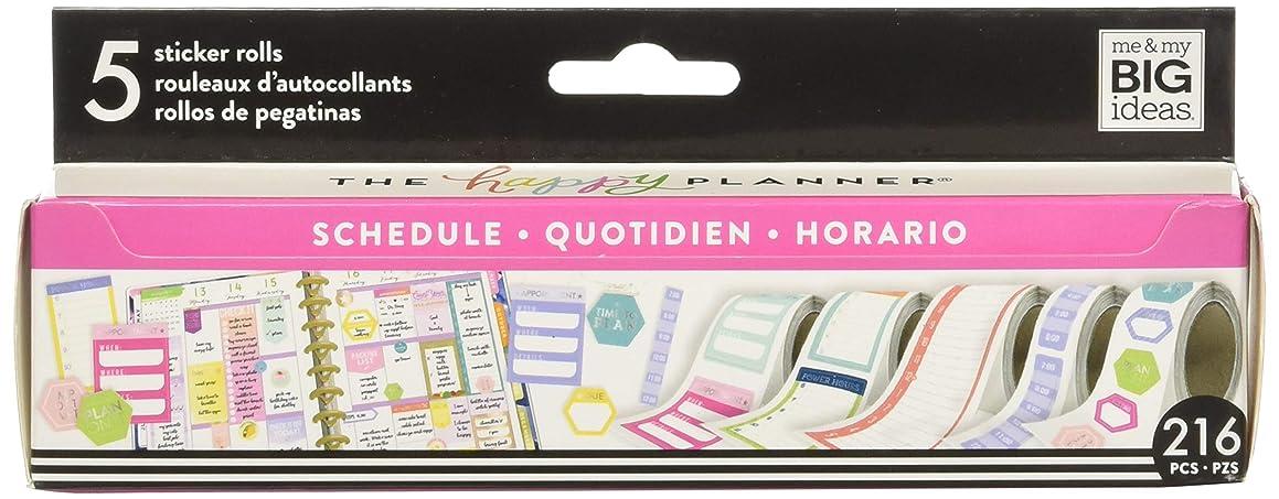 Me & My Big Ideas PRS-04 Scheduling Happy Planner Sticker Roll, Multicolor