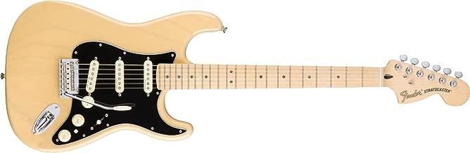 Fender Deluxe Stratocaster Electric Guitar, Maple Fingerboard, Vintage Blonde