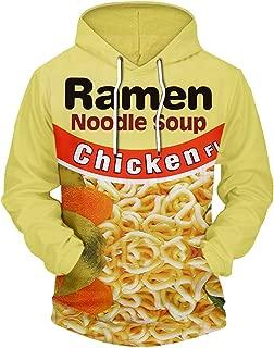 BEEFS Harajuku 3D Hoody Women Fashion Ramen Noodle Chicken Food Print Sweatshirt