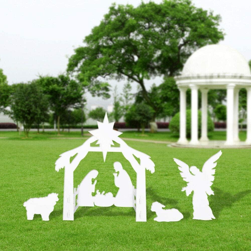 Julias Ranking TOP2 Boutique 4ft Outdoor Nativity Scene = Set Display Louisville-Jefferson County Mall Christm