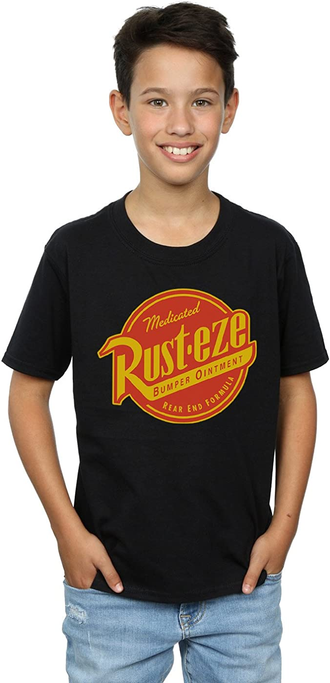 Disney Boys Cars Rust-Eze Logo T-Shirt 9-11 Years Black