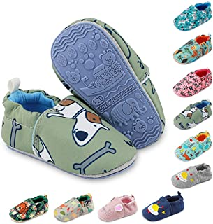 Baby Boys Girls Slippers Non Skid Rubber Sole Baby Walking Shoes Cartoon Infant Sneaker Toddler House Shoes for Baby Girls...