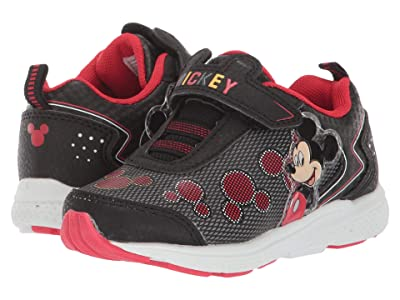 Josmo Kids Mickey Bungee Sneaker (Toddler/Little Kid) (Black/Red) Boy
