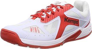 Kempa Wing Lite 女式 Ebbe & Flut 手球鞋,白色 (Weiß/Lighthouse Rot 04),英国