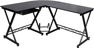 Songmics Computerbureau, computertafel, bureau, bureau, computertafel, werktafel, hobbytafel, PC-tafel, zwart, voor thuisk...