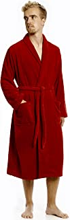 Leveret Mens Robe Soft Micro Fleece Plush Shawl Collar Bathrobe Robe (Size Small-XXLarge)