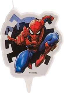 Spiderman 346187 Vela Figurine 2D, Cera, Multicolor, 5 x 2 x