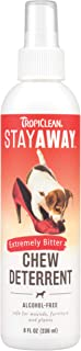 TropiClean Stay Away Pet Chew Deterrent Spray - Alcohol-free - Safe for Wounds, Furniture & Plants - Extremely Bitter, 236 ml