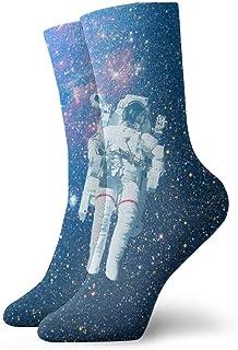 Love girl, Calcetines unisex para hombre Astronauta Space Fashion Novedad Calcetines deportivos secos Medias 30cm