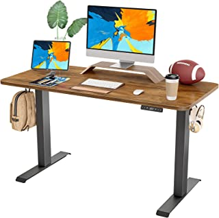 FAMISKY Dual Motor Adjustable Height Electric Standing Desk, 48 x 24 Inches Stand Up Home Office...