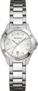 Bulova - Diamond 96W205 - Reloj de Pulsera de diseño para Mujer - Acero Inoxidable