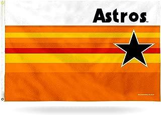 Rico Industries Houston Astros Retro Rainbow Banner Flag