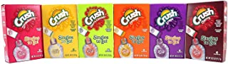Crush Singles To Go Low Calorie Drink Mix Variety Pack (Crush Orange, Pineapple, Cherry, Grape, Strawberry, Cherry Limeade) 6 Pack