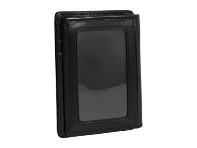 Bosca Old Leather Collection Front Pocket Wallet (Black Leather) Bill-fold Wallet