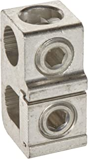 Morris Products 91018 Parallel Tee Tap Connector, Aluminum, 250 AWG, 250 - 1/0 Main Wire, 250 - 6 Tap Wire
