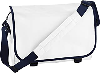 a097ce3c0ad7 Bagbase Adjustable Messenger Bag (11 Liters) (One Size) (White French
