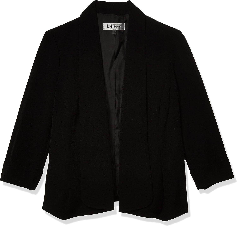Kasper Women's Stretch Crepe Jacket Weekly update Open Cardigan Brand new