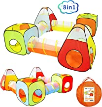 Yoobe 8pc Children Play Tent and Tunnel, Indoor & Outdoor Child Pop up Tent with Tunnels Playhouse