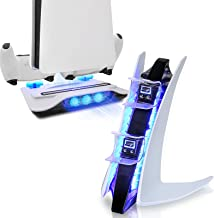 $53 » PS5 White Accessories, PS5 Dual Sense Controller Charger Station and PS5 Cooling Station