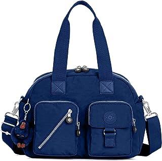 كيبلينغ حقيبة نايلون للنساء-ازرق - حقائب بتصميم الاحزمة