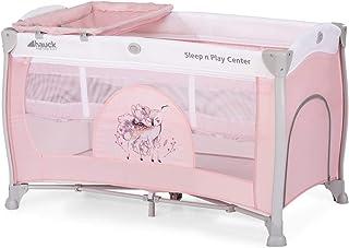 Hauck Kombi Reisebett Set Sleep N Play Center 3 / für Babys und Kinder ab Geburt bis 15 kg / 120 x 60 cm / 2 Höhen / inkl. Wickelauflage / Trage Tasche / Schlupf / Rollen / Sweety Rosa