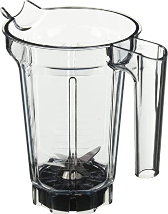 Vita Mix Clear Compact Blender Container Only 带湿刀片 - 无盖,32 盎司 - 每瓶 1 件。