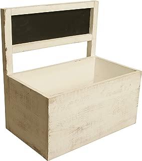 Wald Imports 7018 Decorative Crate, White