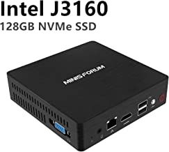 Desktop Mini PC Quad-Core Intel Celeron J3160 Processor (up to 2.24GHz),4G DDR3/NVMe 128GB SSD Pre-Installed with Windows 10 Pro 4K HDMI&VGA Display with Silent Cooling System USB 3.0/BT 4.2