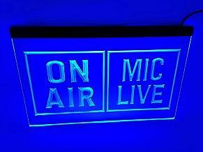 jxledsign Powerful Media Studio On Air Mic Life Display Bar Pub LED Light Sign