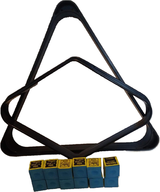 DOOGLAH Products - Pool Cue Rack   Black Diamond  9 Ball Rack   9 Ball Pool Rack   9 Ball Rack for Pool   Diamond Pool Rack   Billiard Triangle Rack   Pool Chalk   Pool Cue Chalk   Billiard Chalk : Sports & Outdoors