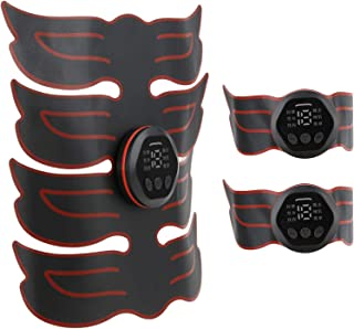 Vbest life Estimulador de Abs Abdominal Sticking EMS Instrumento de Masaje Entrenamiento Muscular Pantalla Digital Entrenador Abdominal Recargable