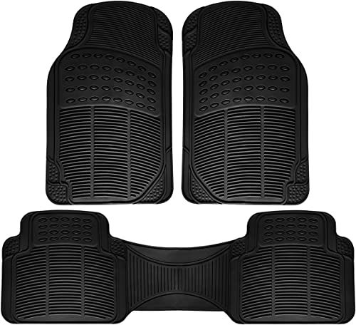 new arrival OxGord Car Floor Mats - All-Weather, Non-Slip, Odorless Rubber - Universal Fit Best outlet sale for Car SUV Truck Van, Heavy Duty, Ridged Liner Protection lowest Great for Catching Spills & Easy Rinse outlet sale