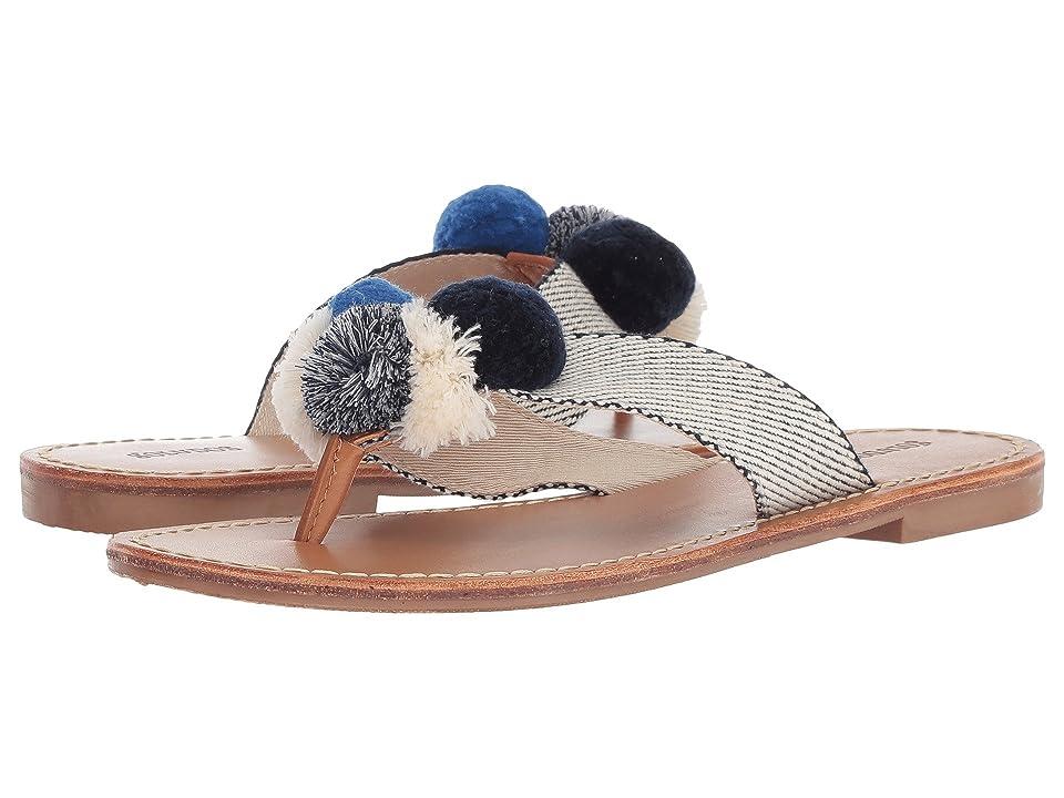 Soludos Capri Pom Pom Sandal (Navy/Natural) Women