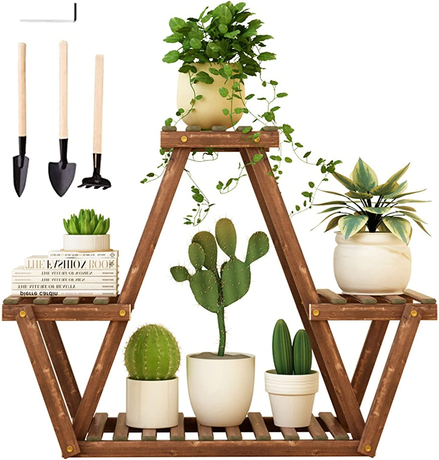 XIONGGG Wood Very popular Plant Stand 3 Tier Flower Holder Raleigh Mall Pot Display Storag
