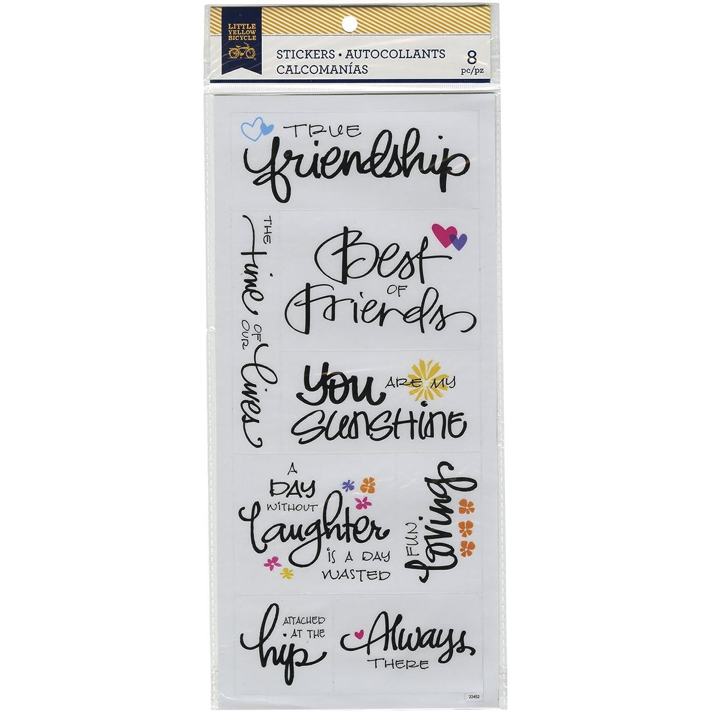 Momenta 22452 Little Yellow Bicycle Friendship Vellum Stickers